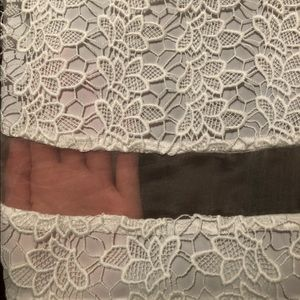 Alice and Olivia BNWT white lace dress